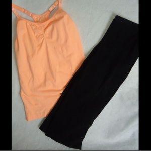 XL 16-18 SPALDING shaping black capris pants +